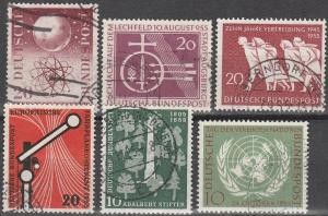 Germany #731-6.  F-VF Used CV $13.55  (D91)