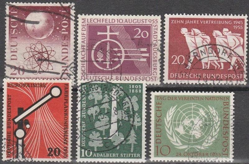 Germany #731-6.  F-VF Used CV $13.55  (D91)