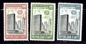 Haiti 469 and C168-69 MNH 1960 U.N. Anniv    (ap1538)