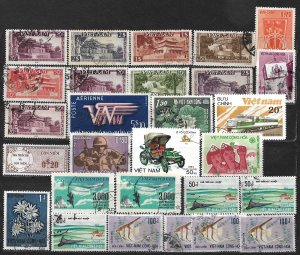 COLLECTION LOT OF 28 VIET NAM 1951+ STAMPS CLEARANCE