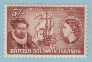 BRITISH SOLOMON ISLANDS 103  MINT NEVER HINGED OG ** NO FAULTS EXTRA FINE!