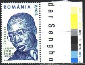 Romania. 2006. 6050. Senghor, Senegalese nobleman, writer. MNH.