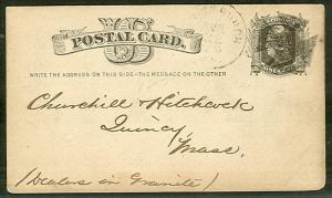 1877, 1¢ card tied Pittsburgh PA + Large MALTESE CROSS, fancy cancel