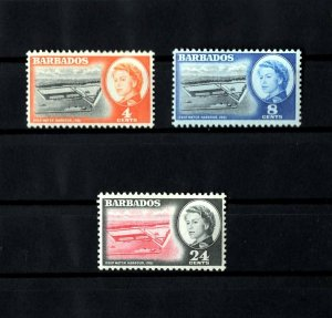 BARBADOS - 1961 - QE II - DEEP WATER HARBOR - BRIDGETOWN - MINT MNH SET!