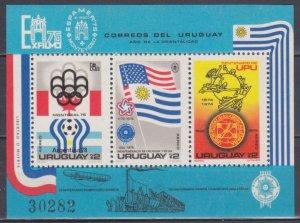 1975 Uruguay 1372-1374/B28 1978 FIFA World Cup in Argentina 22,00 €