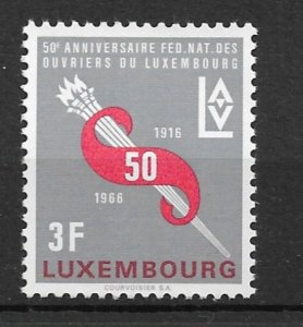 Luxembourg 1966 Workers Federation MNH**