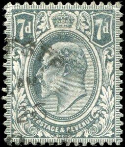 Great Britain - Scott #145 - 1909 KE VII 7d Grey - Used