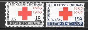 South Arabia #1-2 MH Set of 2 Singles