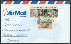 AUSTRALIA 1983 cover to Germany - nice franking - Sydney pictorial pmk.....12819