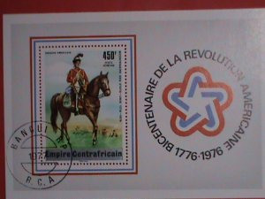 EMPIRE CENTRAFRICAIN STAMPS: 1977 SC#C144 - BI-CENTENARY OF AMERICAN  REVOLUTION