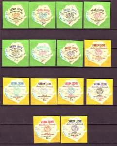 J24467 JLstamps 1964 sierra leone set mnh #257-63,c15-20 ny worlds fair