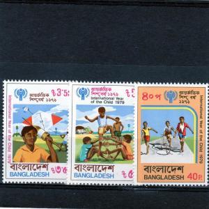 Bangladesh 1979 Year of the Child IYC Set(3)MNH Sc#161/163