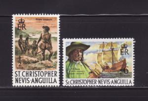 St Kitts-Nevis 206, 212 MNH Pirates
