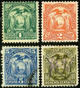 Ecuador Stamps # 19-22 Used VF