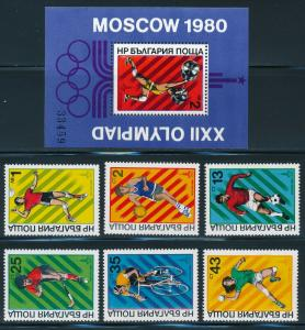 Bulgaria - Moscow Olympic Games MNH Sports Set #2669-74 (1980)