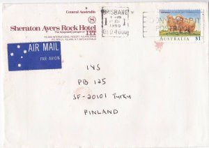 DB881) Solo use advertising cover to Finland. Corriedale sheep. Price $6