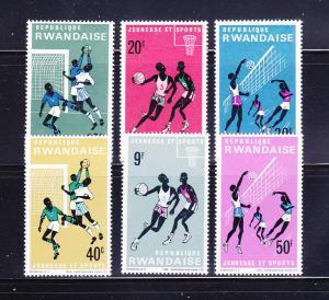 Rwanda 164-169 Set MNH Sports (B)
