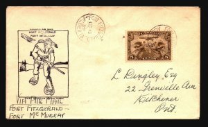 Canada 1929 FFC - Ft Fitzgerlad to Ft McMurray - Z16690