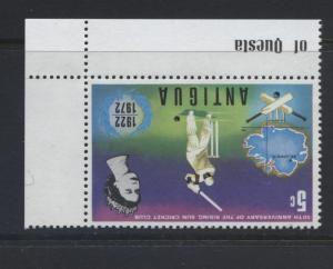 Antigua - Scott 297- Cricket - 1972 - MNH -Inverted Watermark -  Single 5c Stamp