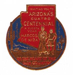 REKLAMEMARKE POSTER STAMP ARIZONA CUATRO CENTENNIAL MARCO DE NIZA 1939 DIE-CUT