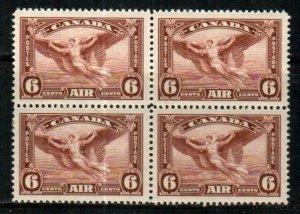 Canada Scott C5 Mint NH block VF [TG727]