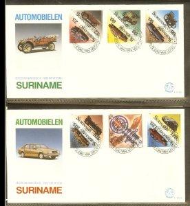 1989 - Rep. Surinam FDC E131AB - Transport - Cars - Antique and modern cars [...
