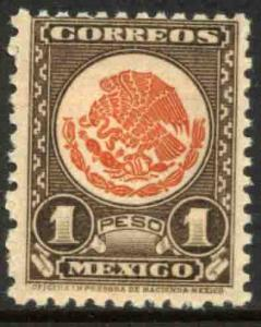 MEXICO 800 $1Peso 1934 Definitive Wmk S.H.C.P. (272) MINT, NH. VF.