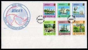 Jersey 236-241 U/A FDC