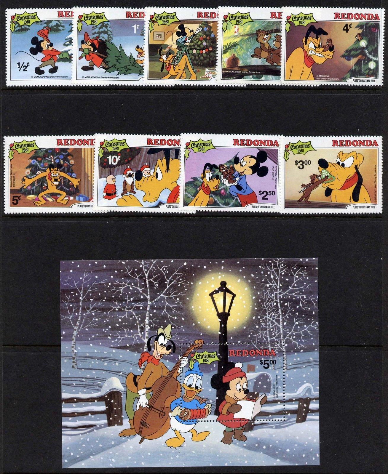 Plutos Christmas Tree.Redonda Mi 81 9 Mibk 13 Mnh Disney Pluto S Christmas Tree