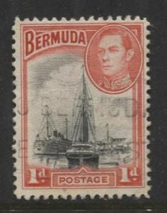 Bermuda - Scott 118 - Hamilton Harbor - 1938 - VFU -  Single - 1d Stamp