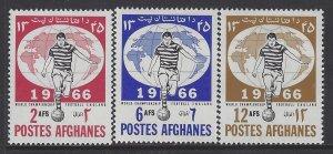 Afghanistan, Scott #727-729; World Soccer Championship, MH