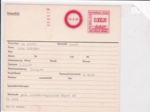 brasil 1954 stempelbild machine cancel stamps card ref 20309