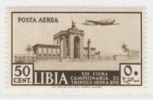 Italy Colony Air Post Libia 1939 Tripoli Fair 50c MNH** A19P1F97