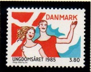 Denmark Sc 771 1985 International Youth Year stamp mint NH