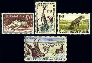 Somali Coast 271-273,C21, MNH. Wart Hog,Cheetah,Gerenuk,Mountain Reedbucks, 1958