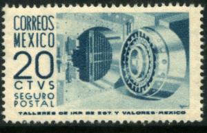 MEXICO G10, 20cents 1950 Definitive 1st Printing wmk 279 CREASED UNUSED HOG VF