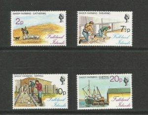 Falkland Islands 1975 Sheep Farming Industry Unmounted Mint Set SG 321/4