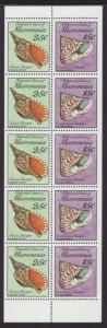Micronesia 88b Seashells Booklet Pane MNH VF