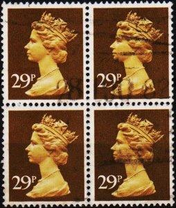 Great Britain. 1982 29p(Block of 4) S.G.X978 Fine Used