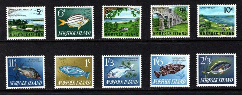 NORFOLK ISLAND  SC# 49-60  FVF/MNH
