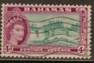 Bahamas   #163  used (1954)  c.v. $0.30
