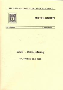 Berliner Philatelisten-Klub von 1888: Klub-Mitteilungen, ...