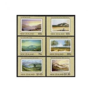New Zealand 912-917,MNH.Michel 1041-1046. Heritage,paint 19th cent.artists.