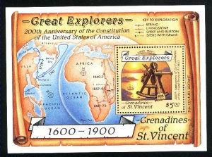 St. Vincent & Grenadines 604  SS Mint NH VF 1988 PD