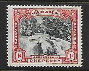JAMAICA 32 MINT HINGED LLANDOVERY WATERFALS, RED & BLACK ISSUE 1901