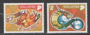 Singapore 2000 Year of the Dragon Scott # 919 - 920 MNH