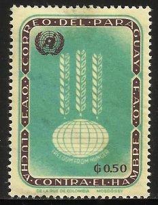 Paraguay 1963 Scott# 762 MH (thin)