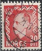 Norway 323 (used, Stava[nger?] cancel) 30ø King Haakon VII