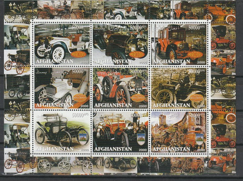 Afghanistan MNH S/S Vintage Classic Cars 2000