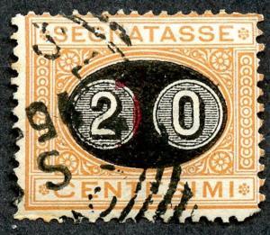 Italy, Scott # J26, Used.  2019 Scott CV $27.50